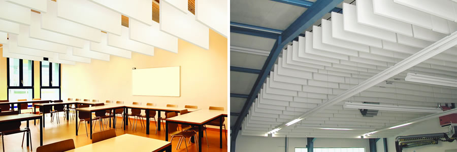 Highly Effective Acoustic Baffles To Absorb Acoustic Noise