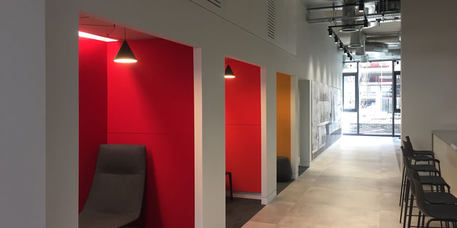 Acoustic Wall Panels In London Office