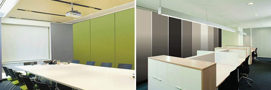 using wallsorba acoustic wall panels