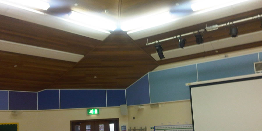 Schiool acoustic wall and ceiling panels