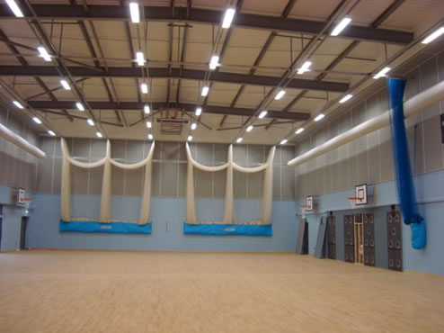 Woodsorba in a Sports Hall